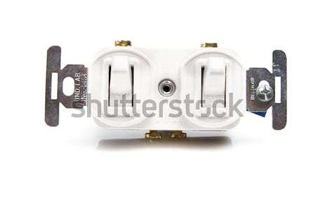 Interrupteur de lumière coup maison nature lampe Photo stock © pxhidalgo