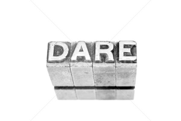 dare sign Stock photo © pxhidalgo
