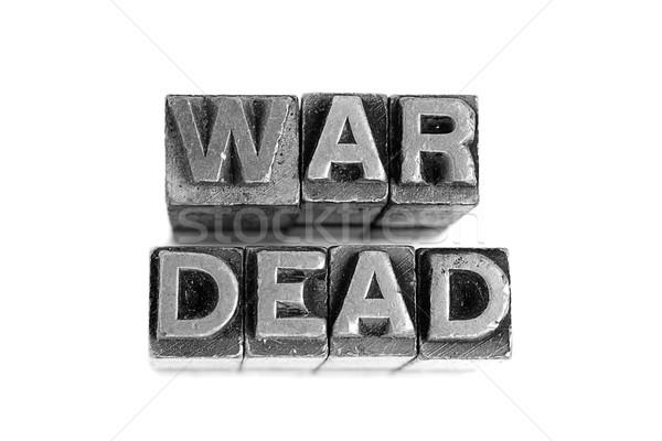 Háború halott felirat antik fém levél Stock fotó © pxhidalgo