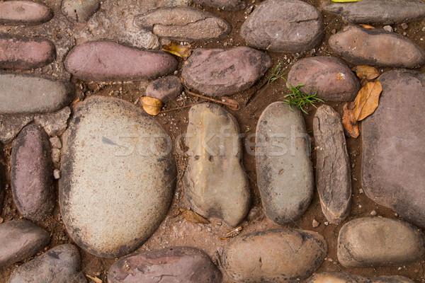 old cobble stone street detail Stock photo © pxhidalgo