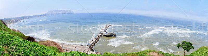 Panorámica vista lima Perú playa carretera Foto stock © pxhidalgo