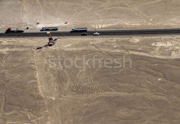 Hatları Peru karayolu manzara dizayn Stok fotoğraf © pxhidalgo