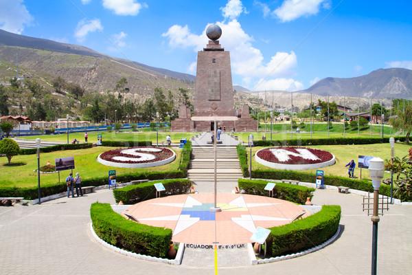 Monument Mitad del Mundo near Quito in Ecuador Stock photo © pxhidalgo