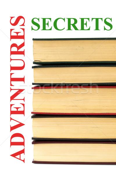 Eski kitaplar macera sırları imzalamak kitap Stok fotoğraf © pxhidalgo