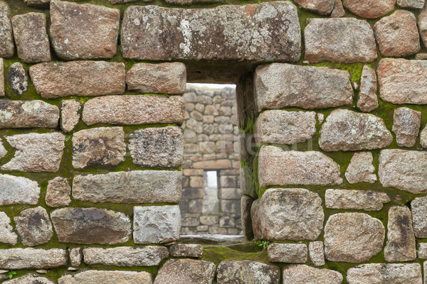 Inca window in a stone wall Stock photo © pxhidalgo