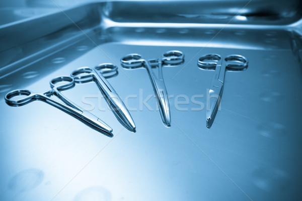 Surgical instruments. Medical concept. Stock photo © pxhidalgo