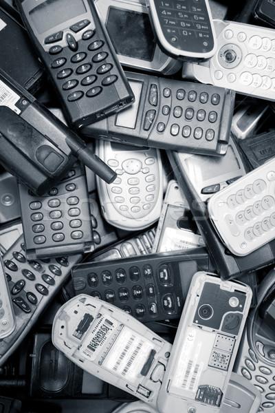 Telefony komórkowe kolor gotowy recyklingu telefonu streszczenie Zdjęcia stock © pxhidalgo