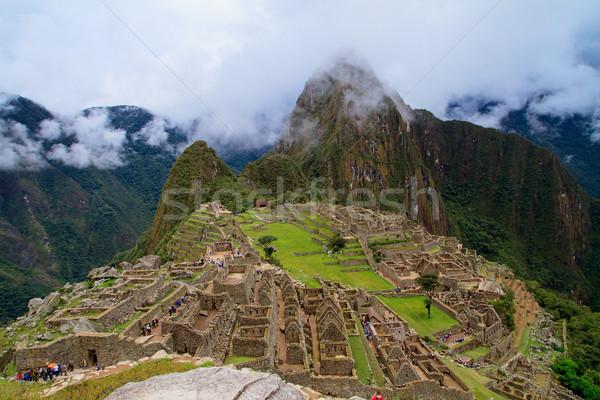 Turista elveszett város Machu Picchu Peru történelmi Stock fotó © pxhidalgo