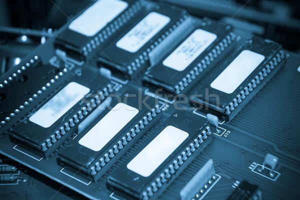 Közelkép elektronikus nyáklap alacsony kontraszt sötét Stock fotó © pxhidalgo