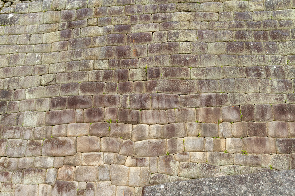 Inca wall in the city Machu-Picchu,Peru Stock photo © pxhidalgo