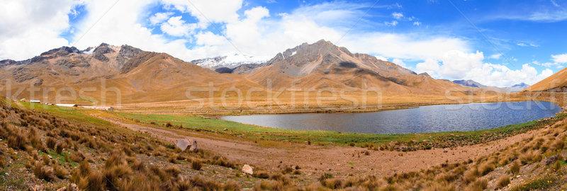 Perú américa del sur paisaje montana verde Foto stock © pxhidalgo