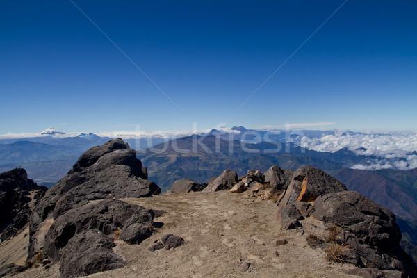 Andes mountains, Ecuador, aerial view Stock photo © pxhidalgo