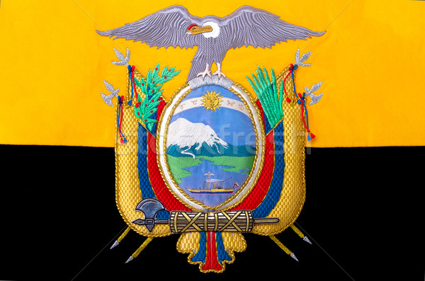 Ecuador coat of arms, seal or national emblem, embroided Stock photo © pxhidalgo