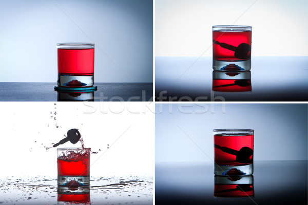 Alcoholic Drink with Car Keys concept drinking and driving Stock photo © pxhidalgo