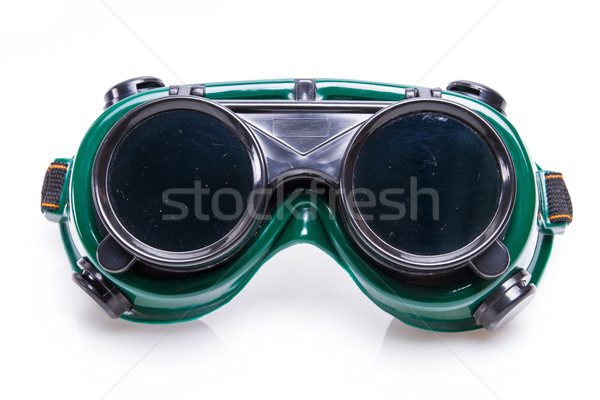 welded protective spectacles on white background isolated, close up Stock photo © pxhidalgo