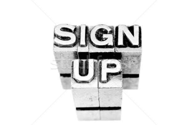 Sign up Stock photo © pxhidalgo