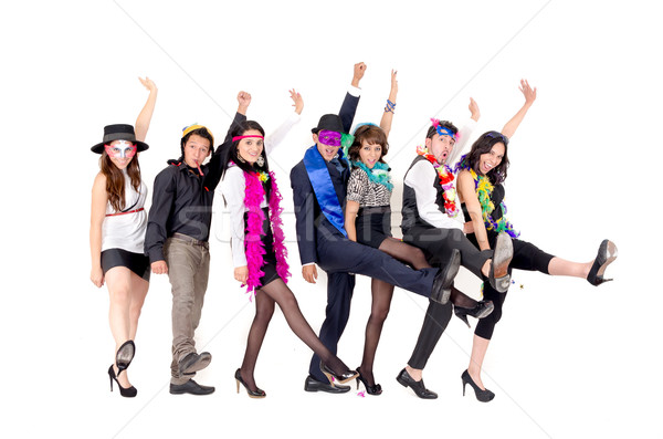 Grup işadamları dans ofis giyim çılgın Stok fotoğraf © pxhidalgo