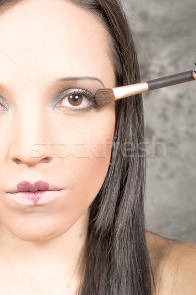Beauté sexy lèvres forme de coeur peinture amour Photo stock © pxhidalgo
