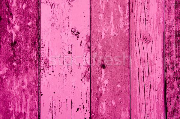 pink color wood plank texture, background Stock photo © pxhidalgo