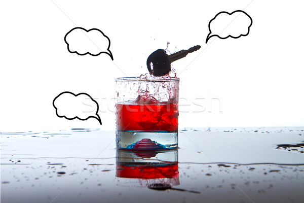 Alkoholos ital slusszkulcs iszik vezetés bár halál Stock fotó © pxhidalgo