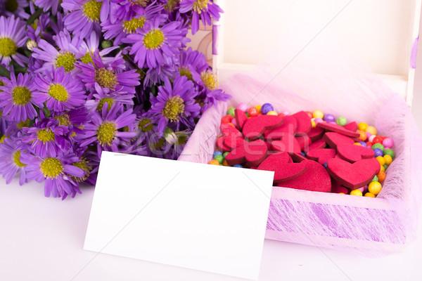 Anyák nap színes virágok ajándék ajándék Stock fotó © pxhidalgo