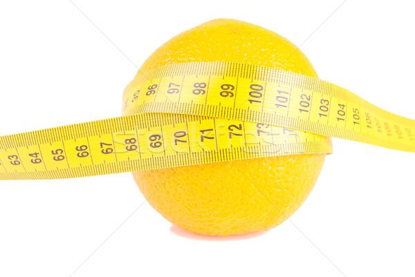 Orange Fruit with measurement isolated on white Stock photo © pxhidalgo