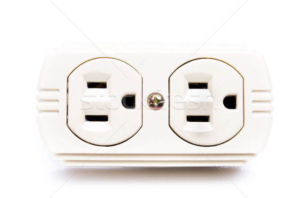 U.S. electric household outlet isolated - Stock photo © pxhidalgo