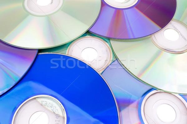 компакт-диск бизнеса аннотация синий программное цифровой Сток-фото © pxhidalgo
