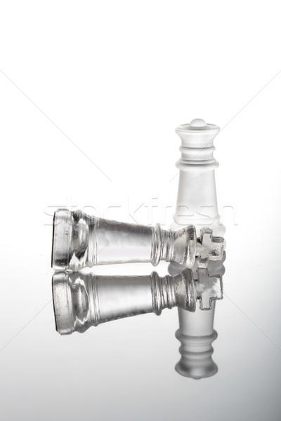 Verificar companheiro xadrez vidro peças negócio Foto stock © pxhidalgo