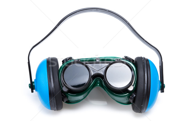 Safety Gear ear defenders and goggles Stock photo © pxhidalgo