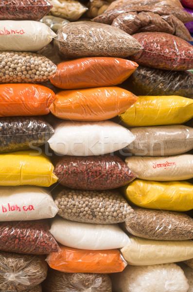 Színes aromás Ecuador fűszer piac étel Stock fotó © pxhidalgo