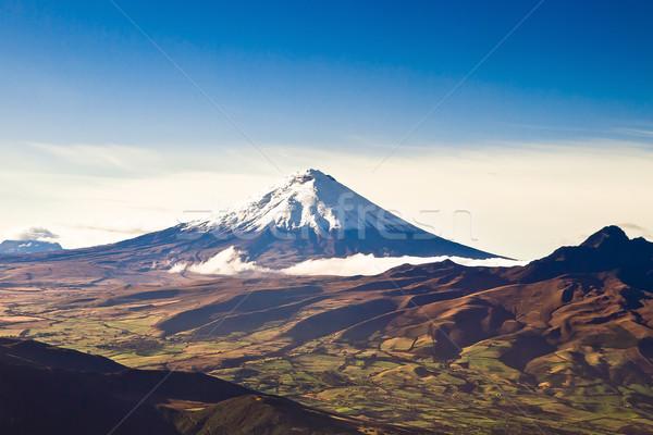 Cotopaxi volcano, Ecuador aerial shot Stock photo © pxhidalgo