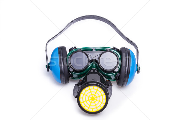 Safety Gear Mask,ear defenders and goggles Stock photo © pxhidalgo