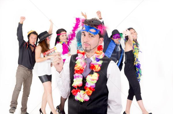 Loco empresarios baile negocios sonrisa fiesta Foto stock © pxhidalgo