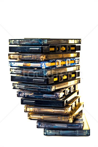 Cassette pile COLOR PROCESSED POP Stock photo © pxhidalgo