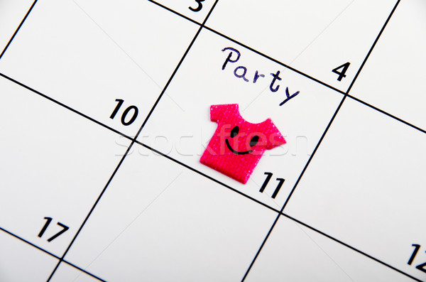 Marked date for party on a calendar. Stock photo © pxhidalgo