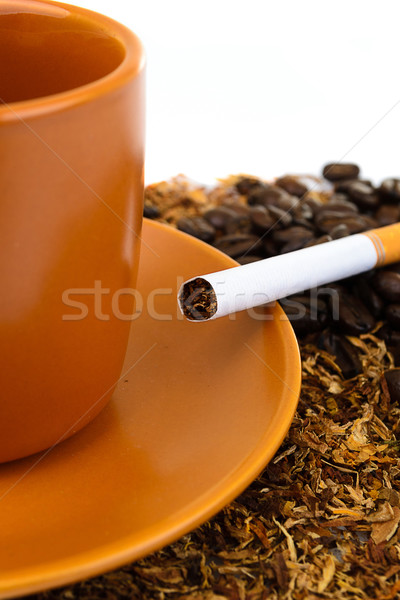 Kahve sigara restoran kafe fincan beyaz Stok fotoğraf © pxhidalgo