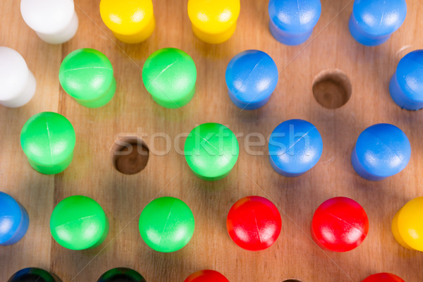 chinese checkers wooden board game Stock photo © pxhidalgo