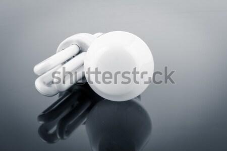 Modern villanykörték vs fény technológia kék Stock fotó © pxhidalgo