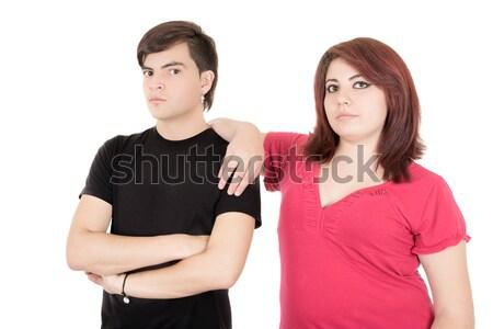 alternative fighting couple on white background Stock photo © pxhidalgo
