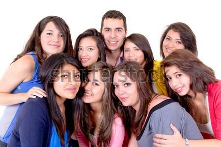 Closeup portrait of people looking upwards Stock photo © pxhidalgo