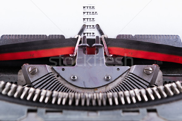Concept about Kill written on an old typewriter . Stock photo © pxhidalgo