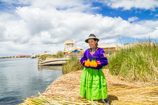 Woman in traditional indigenous clothing, Peru Stock photo © pxhidalgo