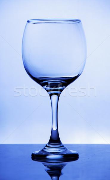 輝かしい ガラス 青 水 ドリンク 赤 ストックフォト © pxhidalgo