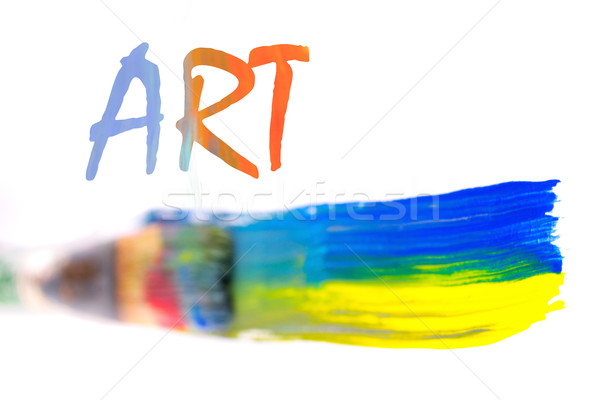 Paint brush with stroke and art sign Stock photo © pxhidalgo