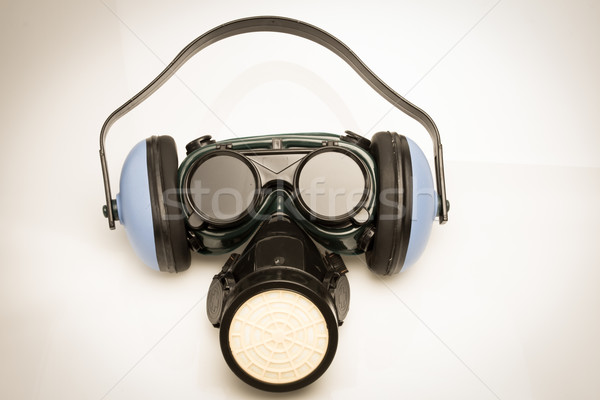 Vintage Safety Gear Mask,ear defenders and goggles Stock photo © pxhidalgo