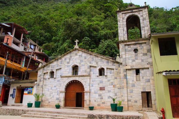 Ana kilise Machu Picchu Peru yol Bina Stok fotoğraf © pxhidalgo