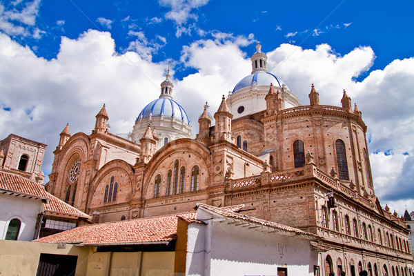 New cathedral in Cuenca with blue sky Stock photo © pxhidalgo