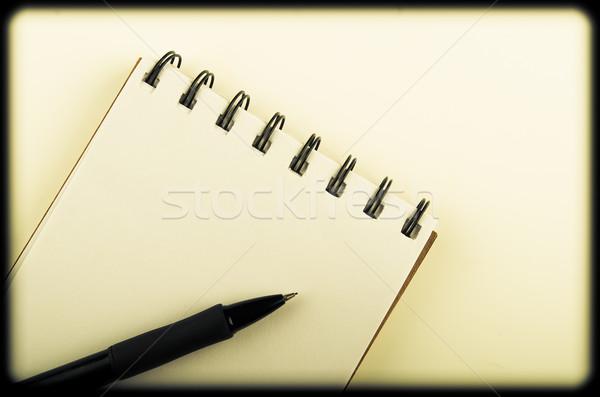 Pen notebook kleur business papier Stockfoto © pxhidalgo