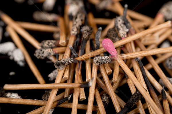 Group of matches selective focus on new one Stock photo © pxhidalgo